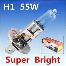 2pcs H1 55W 12V Super Bright White Fog Lights Halogen Bulb High Power Car Headlight Lamp Car Light Source parking 6000K auto