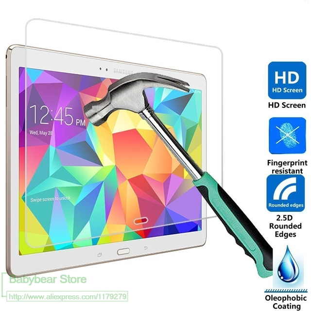 """2 X GLASS Tempered Glass For Samsung Galaxy Tab S 10.5"""" SM-T800 T805 Tablet Screen Protector Film Super Thin Glass films"""