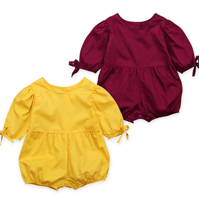 Rorychen Baby Girls Clothes One-pieces Jumpsuit Baby Clothing,Cotton Short Sleeved Rompers Infant Girls Clothes Roupas Menina