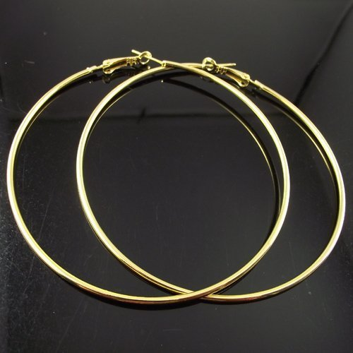 24 Pairs 80mm Gold Hoop Earrings Big Circle Earring Promotion Paparazzi Basketball Wives Earrings Free Shipping