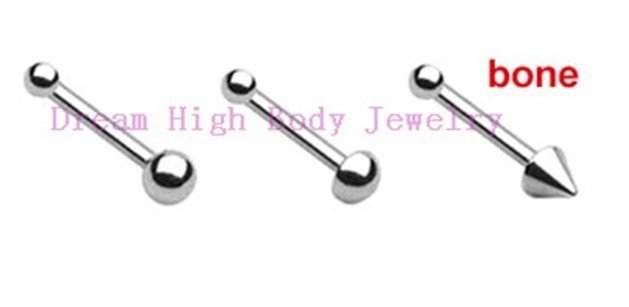 Free Shipping 316L stainless steel Nose Rings Stud Nail Mixed Styles Bone Popular Body Piercing Jewelry 200pcs/lot Free Shipping