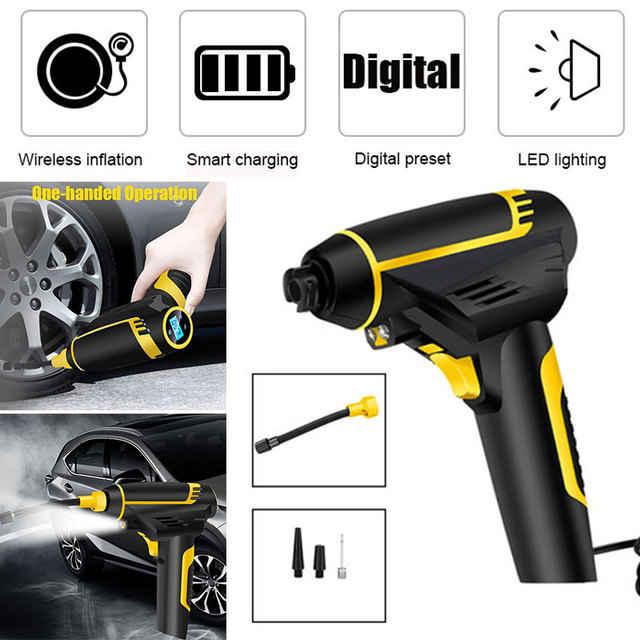 Rechargeable Car Inflator Electric Mattresses Smart Air Compressor Air Pump Tire Inflation Wireless Handheld Portable Digital
