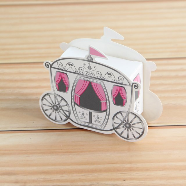 Romantic Fairy tale Favors Gifts Baby Shower Wedding Candy Box Cinderella Pumpkin Carriage wedding decoration mariage 50pcs
