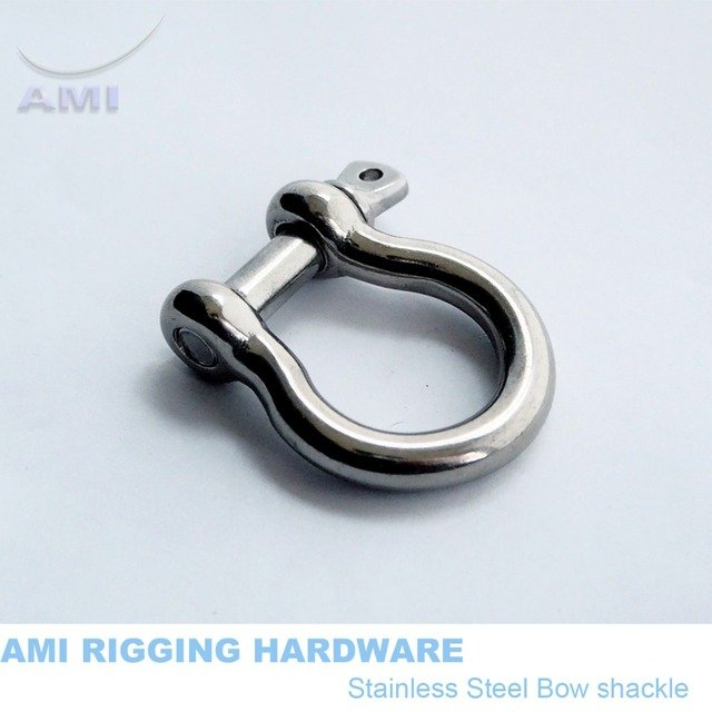 5mm Bow Shackle With Screw Pin Stainless Steel 316 Marine Boat Rigging Hardware