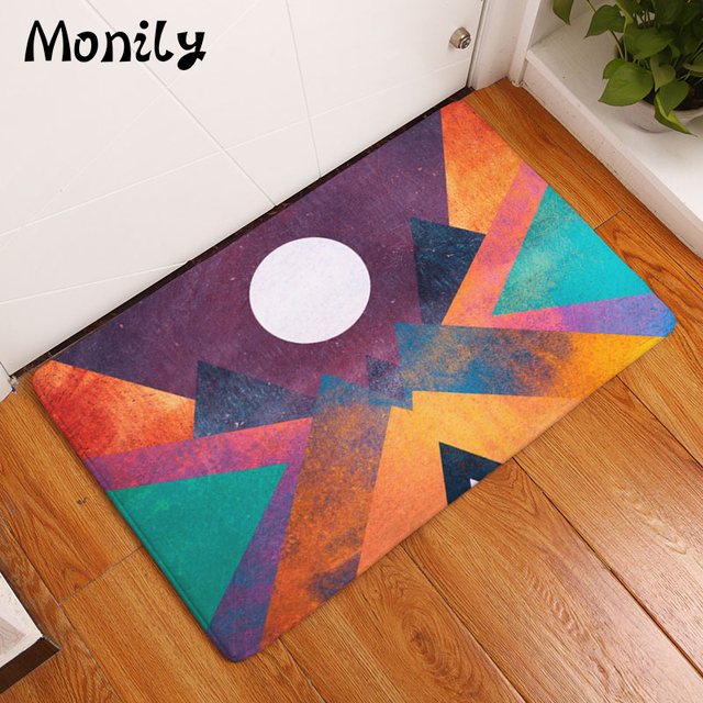 Monily Nordic Anti-Slip Door Mat Waterproof Abstract Painting Sun Carpets Bedroom Rugs Decorative Stair Mats Home Decor Crafts