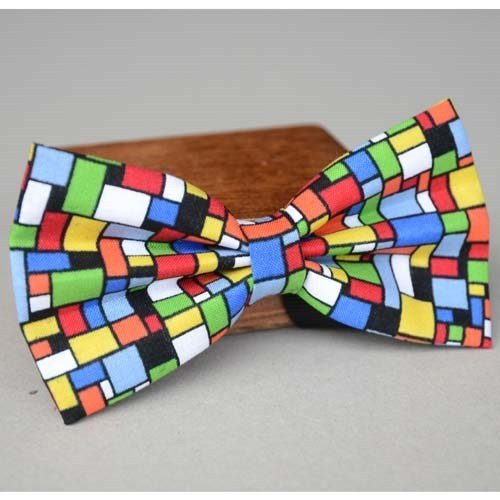 Colorful mosaic boys bowtie,bow ties for men,women ties,necktie,butterfly tie for mens,pre-tied bow tie