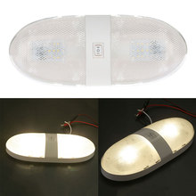 Vehemo Car RV Interior LED Light Ceiling Double Dome Lamp Camper Trailer Supplies Car styling Auto Accessories