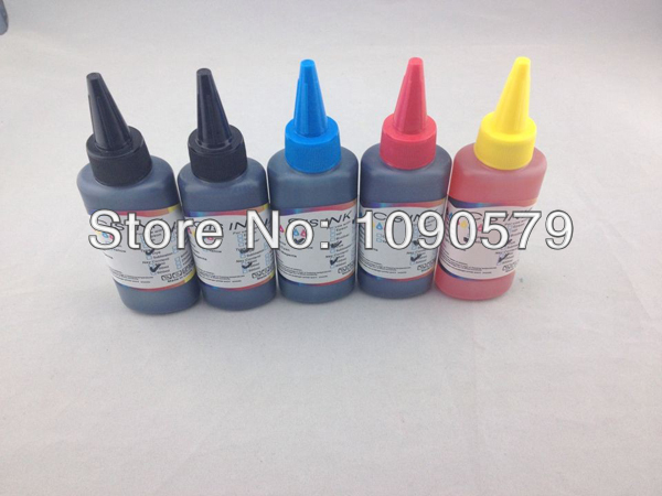 5 Color 100ml Refill UV Dye Ink for Canons Inkjet Printers,Free Shipping By Fedex!