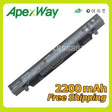 Apexway 14.8V 2200mAh New A41N1424 Laptop Battery for ASUS ROG FX-PLUS ZX50 ZX50J ZX50JX GL552 GL552J GL552JX GL552V GL552VW