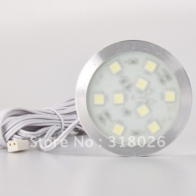 LED Down Light SMD 9leds Thin Small Round Style Cabinet Lighting  120LM For Wardrobe Closet 3pcs/lot