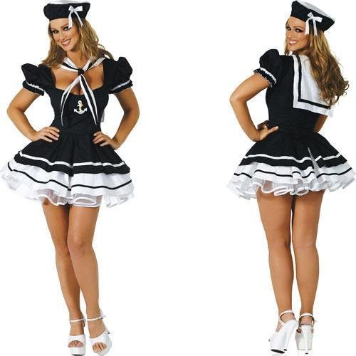 Wholesale  Free Shipping Sexy Lingerie Fancy Dress Sailor Party Costume Black GL9012