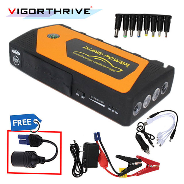 Car Jump Starter Multi-Function  For Car Battery Booster Output 12V Emergency Starting Device Power Bank Car Charger Portable