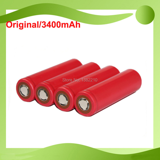 12PCS/lot original 3.7V 18650 NCR18650BF 3400mAh rechargeable Li-ion battery For Sanyo