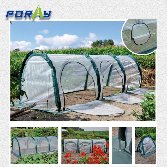 NEW pop up mini poly tunnel greenhouse tunnel Conservatory of flowers  foldable PE shed garden