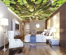 Decorative Paintings Custom 3D Ceiling Forest sky Wall papers Home Decor Wallpapers For Living room Ceiling Wallpaper