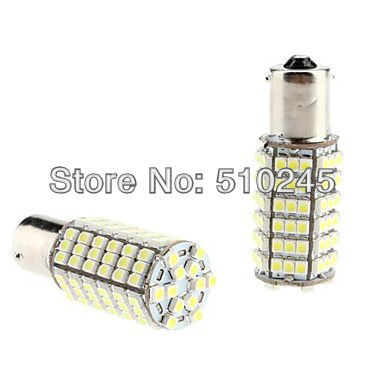 10x car led s25 ba15s p21W 1156 bay15d 1157 p21w/5w 102 led smd 3528 102smd led light bulb lamp WHITE RED YELLOW Free shipping