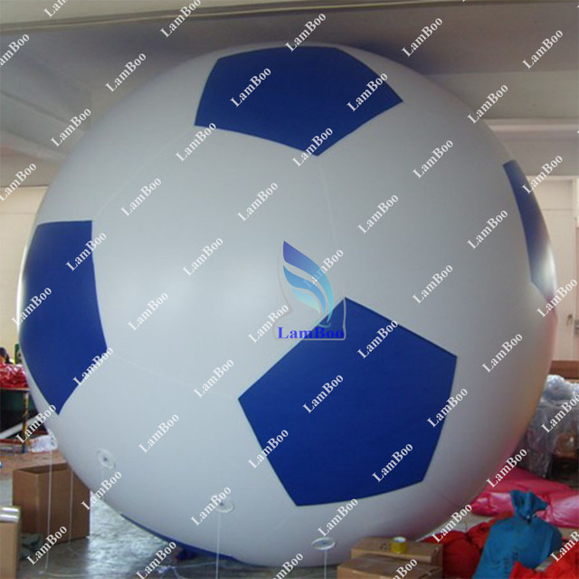 Blue 2m Inflatable Football Helium Balloon for Events/FREE Shipping