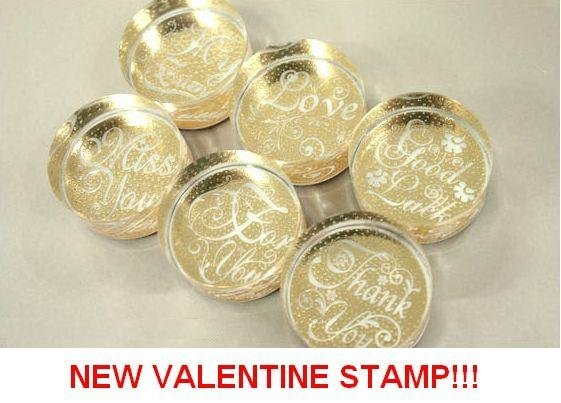 Wholesale stamps, Crystal round stamp/rubber stamp, NEW VALENTINE/gift/Decorative DIY, made of crystal+rubber, Free shipping!
