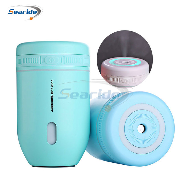 220ML Cup USB Air Humidifier Ultrasonic Humidifiers Car Mist Maker Aroma Essential Oil Diffuser with Lamp Household Appliances