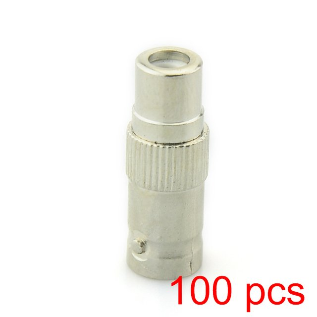 100x BNC Female to RCA Female Coupler Coaxial RG59 Converter Adapter CCTV Jack