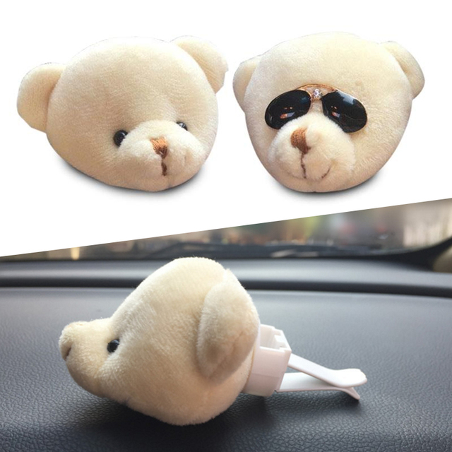 Bear Car Perfume Seat Cartoon Outlet Perfume Clip Cars Air Freshener Styling