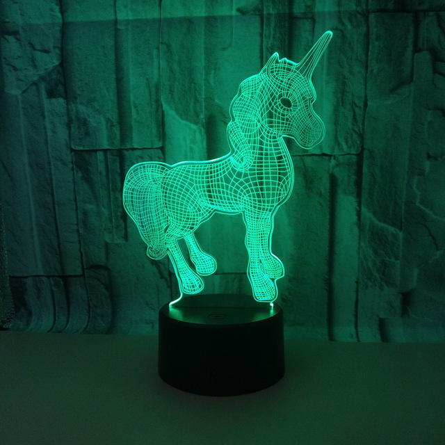 Seven Color Touch Control 3d Led Table Lamp Remote Touch Usb And Battery Power Supply Desk Lamp 3d Nightlight