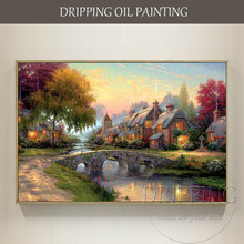Artist Hand-painted High Quality Beautiful Thomas Landscape Oil Painting on Canvas Modern Wall Artwork Thomas Landscape Painting
