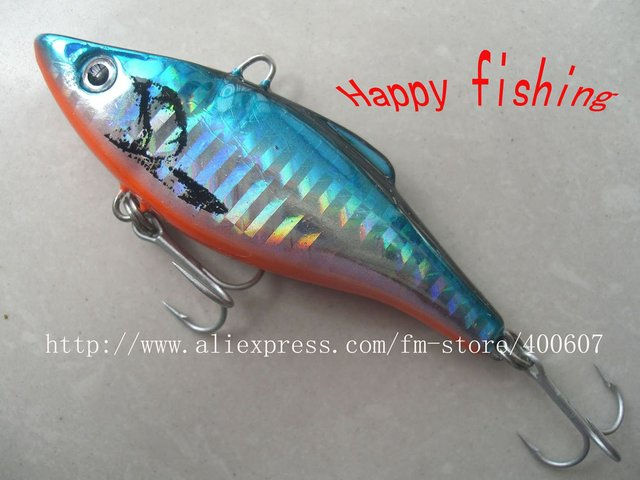 all purpose fishing hard bait jerk lure  plastic baitJapnese Style VIB FISHING LURE (V75S)fishing bait