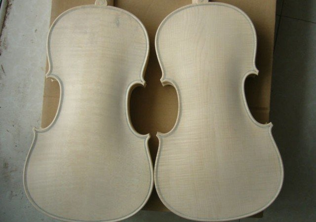 No. 10 & 11 -------2 PCS Nice flamed maple back , side , spruce top white violin 4/4 Stradi model
