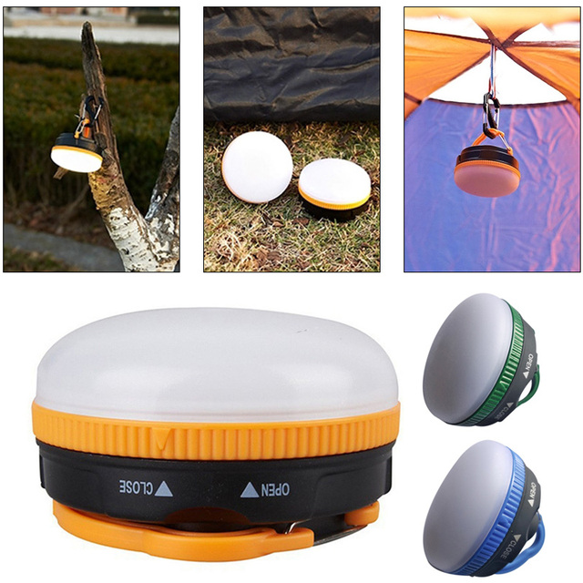 Portable Camping Lights Tent Light LED Magnet Flashlight 3Colors Hiking Travel Outdoor Torch