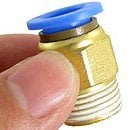 Free Shipping 100PCS A Lot Airtac PC Staight Fitting G1/4'' Male Thread 8mm Tube Fitting PC08-02
