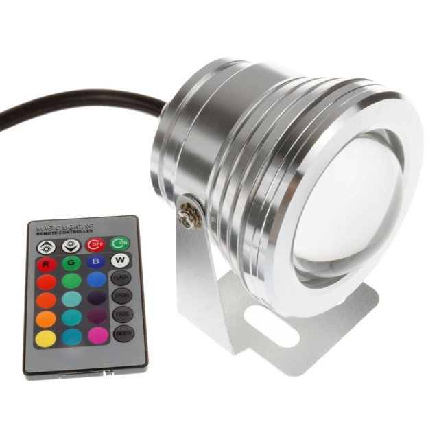 Aquarium Underwater Led Lights for Fountains Pondl Lamp Ip68 Waterproof Led Lighting RGB 10W 12V 16 Colors White/Warm White Lamp
