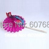 Wholesale 1000 Pieces Peacock Cocktail Sticks Peacock Food Pick Decorative Bamboo Picks EMS Fast Free Shipping Cake Dessert Pick