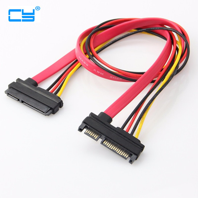 SATA 22Pin Male to Female 7+15 Pin SATA Data Power Extension Cable 30CM 50CM