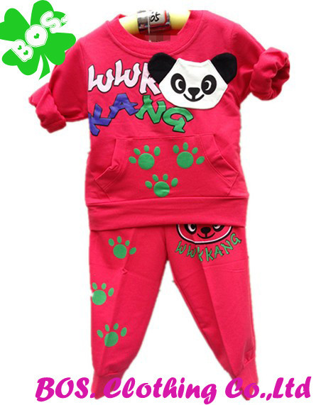 Bosudhsou YL-32 Kung Fu Panda Coat+Pants Baby Boys/Kid/Girls 2pcs Clothes New Arrival Autumn Winter Children's Clothing Sets