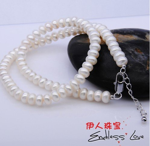 CHEAP SALE!!! 7-8mm Freshwater Pearl Necklace wedding/bridal/female/women's/girls'/lady's Jewellery Accessory+Free Shipping