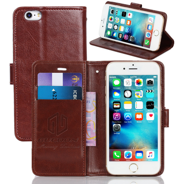 GUCOON Vintage Wallet Case for Prestigio Muze F3 3532 DUO 5.3inch PU Leather Retro Flip Cover Magnetic Fashion Cases