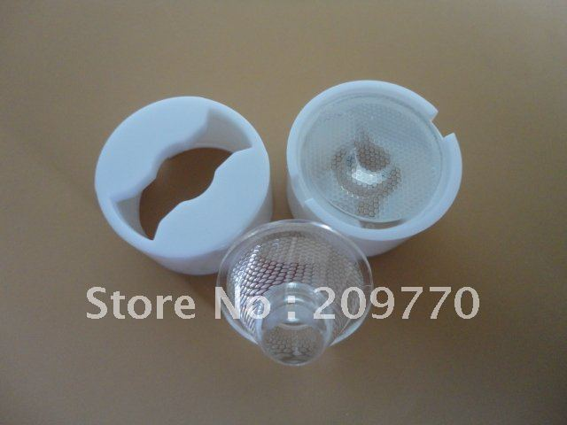 Wholesale- LED lens 20MM  Grid surface  optical lens Contain bracket 1W 3W Reflector Collimator