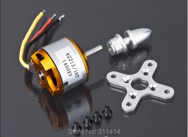2pcs/lot XXD A2212 1400KV Brushless Outrunner Motor Quad Multi-Copter X KK Aircraft RC Model Accessories + Free Shipping