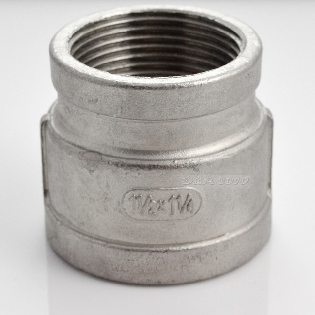 """MEGAIRON High Quality 1-1/2""""x1-1/4"""" Female Nipple Threaded Reducer Pipe Fittings Stainless Steel SS304 New High Quality"""