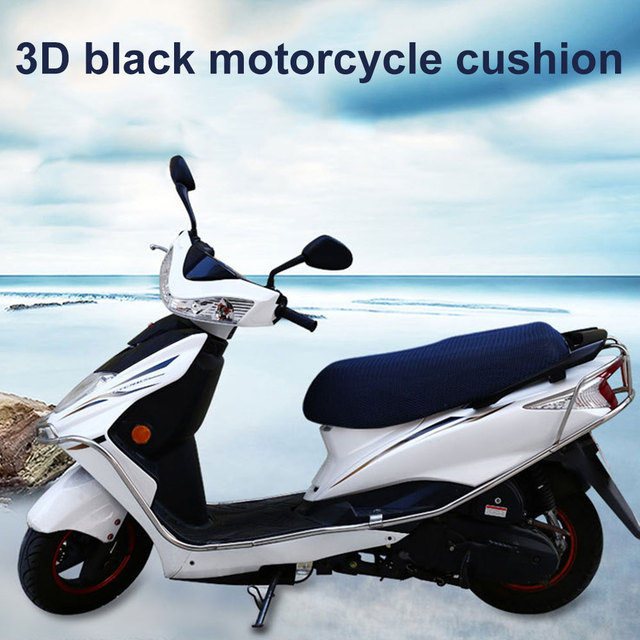 Seat Cover Motorcycle Cover Dampproof 3D Cycling Scooter Electric Car Mesh Motorbike Breathable Seat Cushion Air Pad
