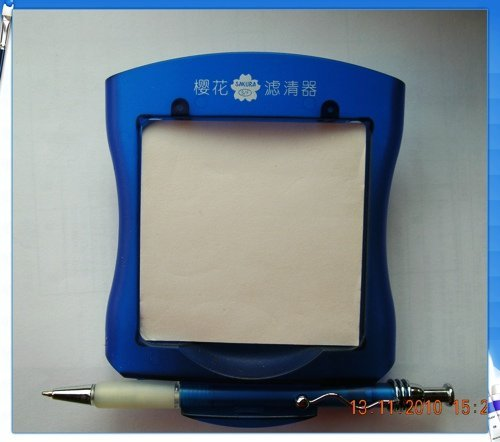 Notepad & pen set with holder, logo printing available, blue, 100 set/lot, wholesale