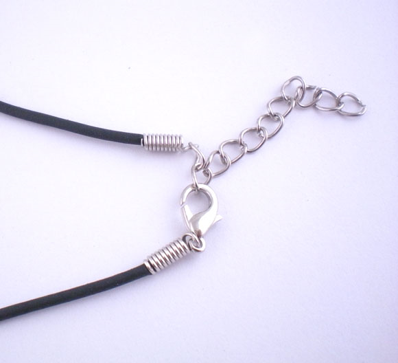 """Doreen Box hot-  20PCs 17"""" Black Rubber Strings fashion necklace With Clasps  (B01710)"""