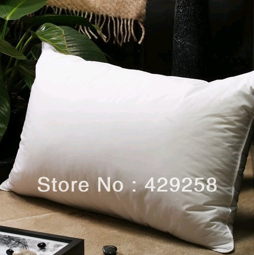 AMAZING FIVE STAR HOTEL 30% WHITE GOOSE DOWN PILLOWS,REAL FIVE STAR HOTEL PILLOW,EXCELLENCE SUPERIOR QUALITY
