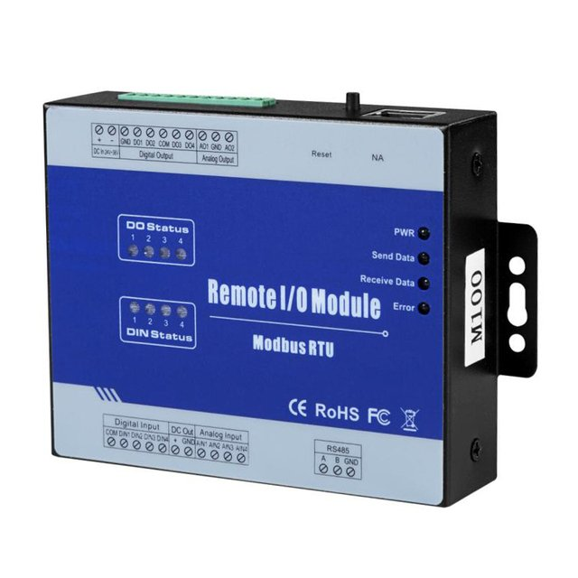 High Precision Modbus Remote IO Data Acquisition Module Relay output Supports M High Speed Pulse Output M120