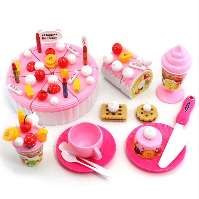 Play Kitchen Food Toys Birthday Cake Pretend Play Children Cookware Simulated  Cake Educational Toy Interact DIY Cutting Cake