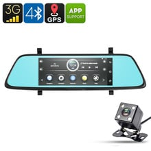 E-CEROS 1080p Car DVR Kit - Android OS, 6.86-Inch, GPS, 1080p Front Camera, Rear-View Parking Camera, Parking Monitor, 3G