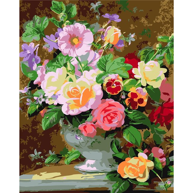 Frameless Wall Decor Pictures Diy Painting By Numbers Hand Painted On Canvas Decoration Painting Still life flower 40X50CM