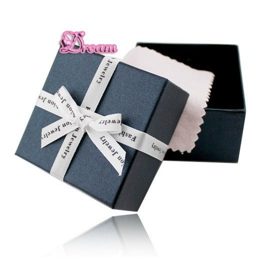 HighQuality ,fashion exquisite,jewelry , gift box ,Double sponge strengthen protection+cotton wiping the silver cloth,NO.6044