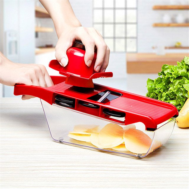 Mandoline Slicer Vegetable Cutter with Stainless Steel Blade Manual Potato Peeler Carrot Cheese Grater Dicer Kitchen Tool